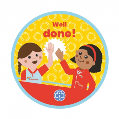 Well done Rainbows woven badge 2021