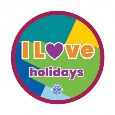 I love holidays woven badge 2021