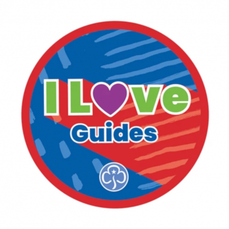 I love Guides woven badge 2021