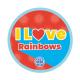 I love Rainbows woven badge 2021