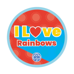 I love Rainbows woven badge 2021