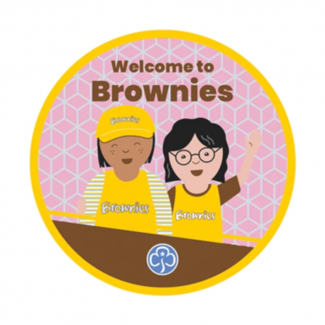 Welcome to Brownies woven badge 2021
