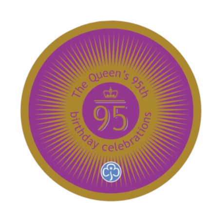 The Queen's 95th birthday celebrations woven badge GGUK