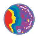International Women's Day 2021 woven badge