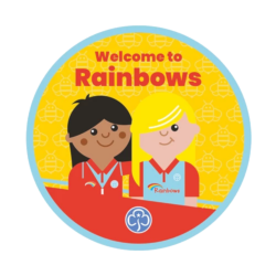 Welcome to Rainbows woven badge 2021