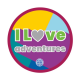 I love adventures woven badge
