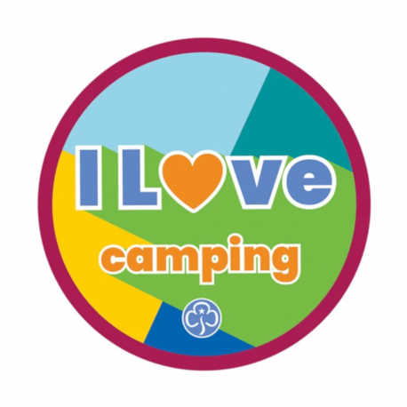 I Love  Camping Woven Badge