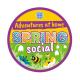 Spring social woven badge