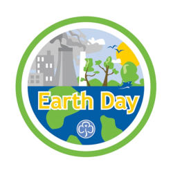 Earth Day woven badge