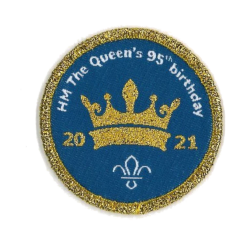 Queen's 95th Birthday Woven Occasional Badge