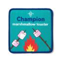 Champion Marshmallow Toaster Scouting Fun Badge