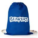 Beavers Cotton Drawstring Tote Bag