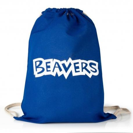 Beavers Drawstring Tote Bag
