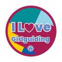 I love Girlguiding woven badge 2021