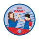 Well done Guides woven badge