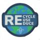 Fleur de Lis Scouts Recycle Reuse Reduce Fun Badge