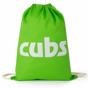 Cubs Green Cotton Drawstring Bag