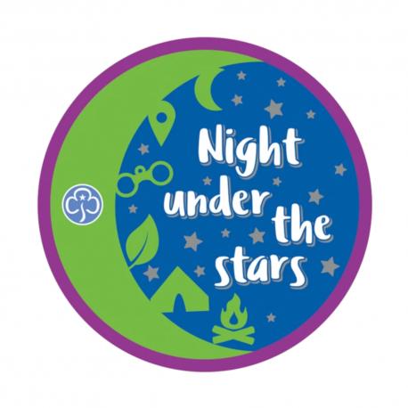 Night under the stars woven badge