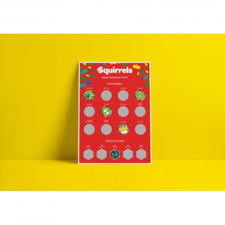 COMING SOON! - Squirrel Scouts A3 Scratch Off Badge Achievement Poster