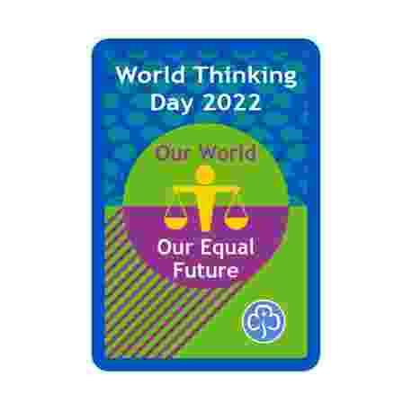 World Thinking Day 2022 Woven Badge