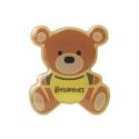 Brownie Rubber Pin Badge - Hoody