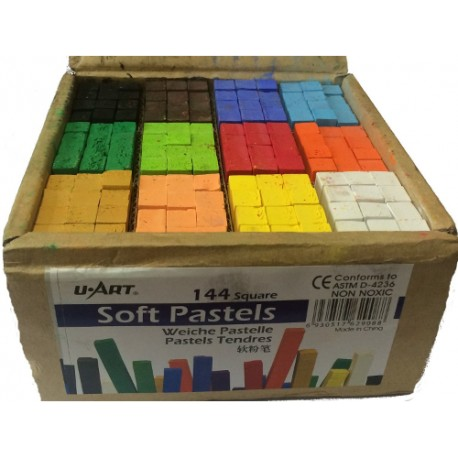Artists Box 144 Sticks of Soft Pastels - 12 Colours