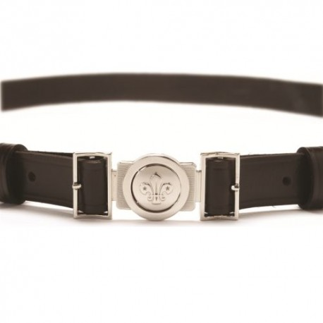 Slimline Leather Belt With Buckle
