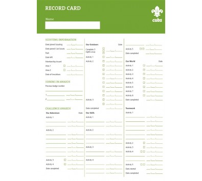 Cub Scout Certificates & Leader Books