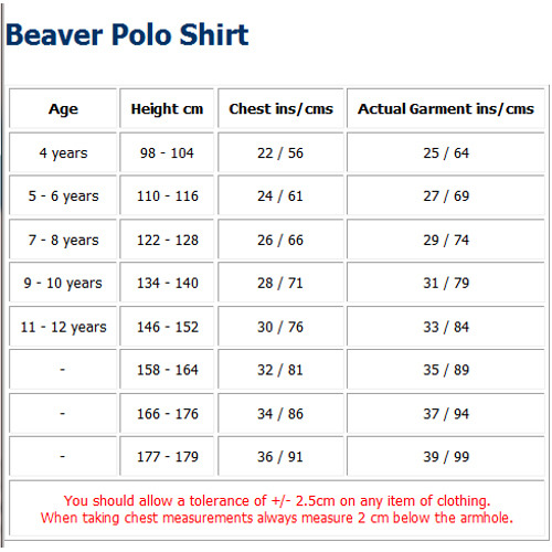 Beaver polo shirt